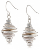 Kenneth Cole New York Silver Disc Stacked Drop Earrings
