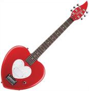 Daisy Rock Debutante Heartbreaker Short Scale Red Hot Red Electric Guitar