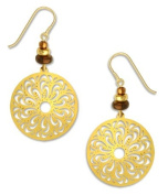 Gold Large Filigree Oval Gold Plate Earrings, Handmade in USA by Adajio Sienna Sky 7358