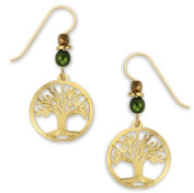 Tree of Life Earrings Gold Plated, Handmade in the USA by Sienna Sky 1370