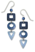 Adajio by Sienna Sky Denim Blue Geometric Shapes Cascade Earrings 7298