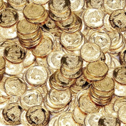 Novelty Amscan Plastic Gold Coins Value Pack - 400 Ct.
