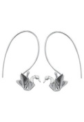 Boma Sterling Silver Origami Crane Earrings