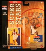 RAY ALLEN * 2000 OLYMPICS MEN'S BASKETBALL TEAM U.S.A. * NBA Team Super Stars Limited Edition Figure, USA Display Base & Exclusive Topps Collector Trading Card