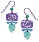 Adajio by Sienna Sky Purple Blue Green Spiral Niobium Earrings 7174