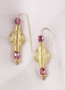 Crystal and Gold African Spiral Earrings