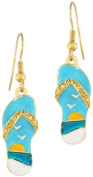Lunch at The Ritz 2GO USA Flip Flop Earrings - Beach, Shoes