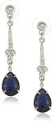 1928 Jewellery Royalty Drop Blue Crystal Drop Earrings