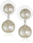 "Carolee ""Pearl Basics"" Simulated Pearl Graduated Pearl Drop Earrings"