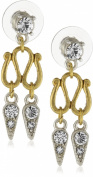 Antiquities Couture Art Deco Crystal Swirl Earrings