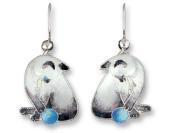 Siamese Cat Sterling Silver and Enamel Earrings by Zarah