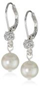 "Carolee ""Pearl and Crystal Basics"" Simulated Pearl Drop Earrings"