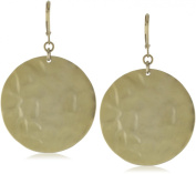 Kenneth Cole New York Hammered Gold-Tone Drop Earrings