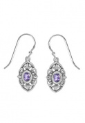 Boma Sterling Silver Baroque Amethyst Earrings
