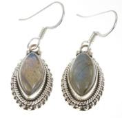 925 Sterling Silver NATURAL LABRADORITE Earrings, 3.5cm , 6.24g
