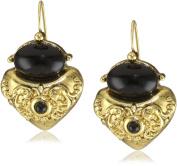 Antiquities Couture Jet Corinthian Sculpted Drop Earrings