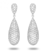JanKuo Jewellery C.Z Bridal, Prom Chandelier Pave Drop Earrings.