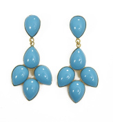 Clip On Earrings Turquoise Jewellery Resin Turquoise Flower