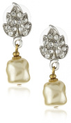 Antiquities Couture. Crystal Faux Pearl Drop Earrings