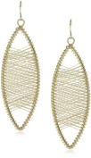 Kenneth Jay Lane Gold Oval Wire Earrings