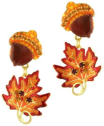 Lunch at The Ritz 2GO USA Acorn and Leaf Earrings
