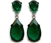 Angelina Jolie Oscar ~ Beverly Hills Housewives Emerald Earring