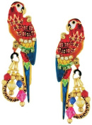 Lunch at The Ritz 2GO USA Mango Macaw Earrings - Red