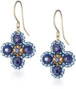 Miguel Ases Small Deep Blue Flower Earrings