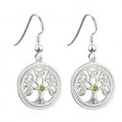 Sterling Silver Tree of Life Drop Earrings - Made in Ireland