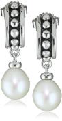 """Honora """"Pallini"""" White Freshwater Cultured Pearl Dangle Earrings"""