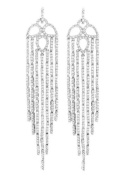"""""""Breathtaking Waterfall"""" - Dangle Earrings with a Myriad of Pavé White CZs"""