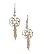 Beautiful! Diamond-cut Sterling-silver Black Hills Gold Dream Catcher dangle-earrings