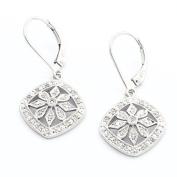 Silvr Diamond Flower Earring