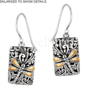 Designer Phillip Gavriel 18k Gold & Silver Collection Dragonfly Zen Collection Fancy Earrings