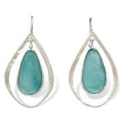 Ancient Roman Glass Teardrop Earrings Sterling Silver