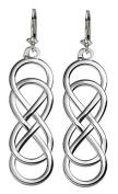 Large Double Infinity Symbol Earrings, Best Friends Forever Earrings, Sisters Earrings, 10mm x 30mm in Sterling Silver