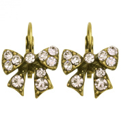Kate Marie Vintage Earrings Butterfly Design Embellished with Rhinestone