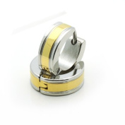 316L Surgical Stainless Steel 5mm X 11mm Huggie Hoop Two Tone Earrings For Children & Women