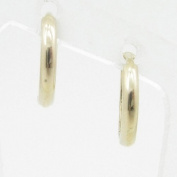 womens bp51 fancy earrings 14K yellow gold italian ball stud huggie hoop