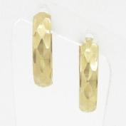 womens bp17 fancy earrings 14K yellow gold italian ball stud huggie hoop