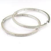 0.28 Carat Silvr Diamond Hoop Earring