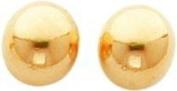 14K Gold 10mm Half Ball Stud Earrings Jewellery