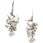 Freshwater Keshi White Cultured Pearl Earring in Sterling Silver