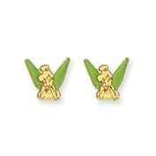14K Disney Tinkerbell Earrings