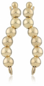 The Ear Pin 10k Yellow Gold Polished Beads Earrings