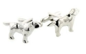 JJ Weston Labrador dog cufflinks with presentation box. Made in the USA