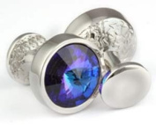 Blue Crystal Goblet Cufflinks by Mousie Bean