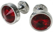 Red Crystal Goblet Cufflinks by Mousie Bean