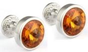 Topaz Crystal Goblet Cufflinks by Mousie Bean