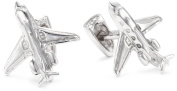 """ROTENIER """"Novelty"""" Sterling Silver Private Jet and Engine Cufflinks"""